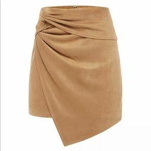SHEIKE Suede Faux Asymmetrical Hem Skirt Size 08